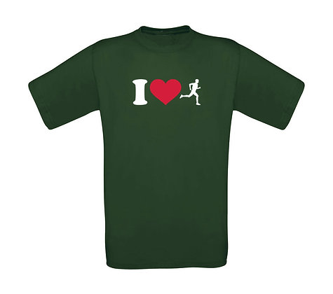 "Erwachsenen T-Shirt ""I LOVE RUNNING"""