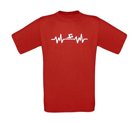 """Erwachsenen T-Shirt """"SWIM HEARTBEAT"""""""