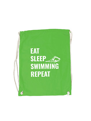 "Gymbag ""EAT,SLEEP,SWIMMING"""