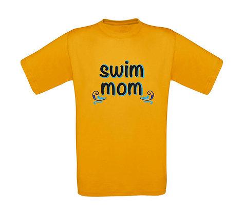"""Erwachsenen T-Shirt """"SWIM MOM"""""""