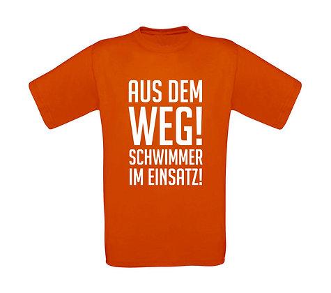 """Erwachsenen T-Shirt """"SCHWIMMER IM EINSATZ"""""""