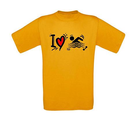 "Erwachsenen T-Shirt ""SWIMMING SCRIBBLE"""