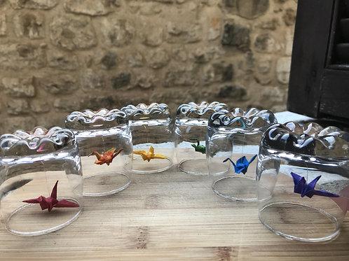 Birds under glass