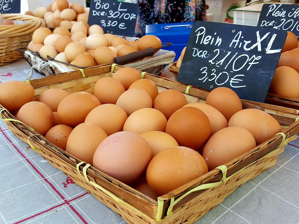 Fresh eggs from the egg girl