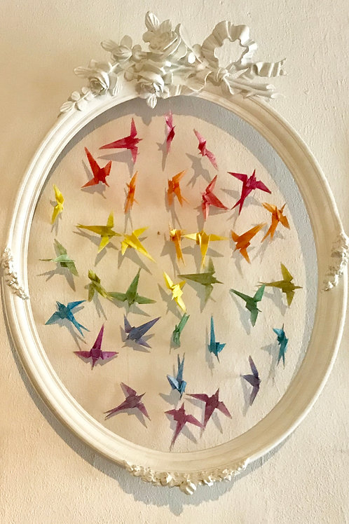 Swallows in a vintage frame