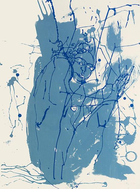 Jane Sampson 'Cornflower blue' Screenprint 76 x 56cm Edn 20