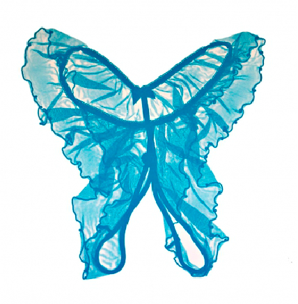 Jane Sampson 'Provocative Butterfly' blue version Screenprint 45 x 45cm edn 20