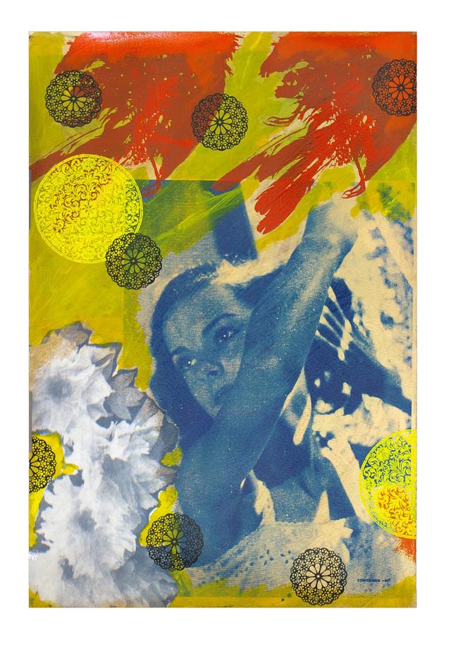 Jane Sampson  'Time Flies' Screenprint 38 x 56cm edn 15