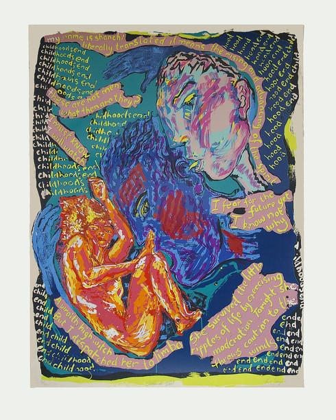Jane Sampson 'Childhoods End' Silkscreen 80 x 100cm Edn 10