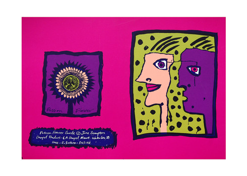 Jane Sampson 'Partners' Card design Silkscreen 25 x 18cm