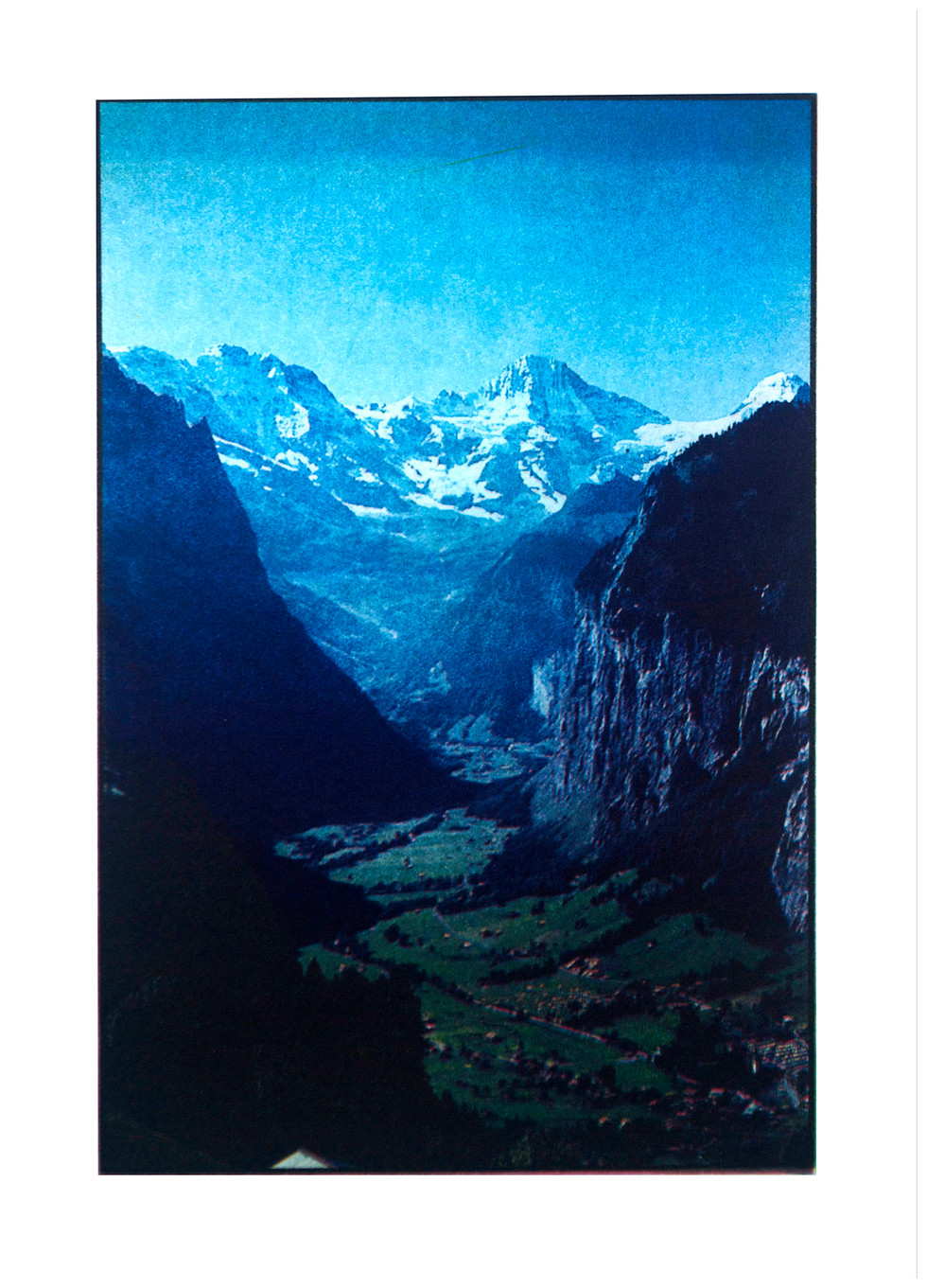 Jane Sampson 'Lauterbrunnen' Photo etching  15 x 21cm A/P