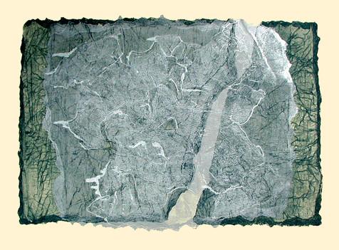 Jane Sampson 'Delta' Collagraph 76 x 56cm edn 10