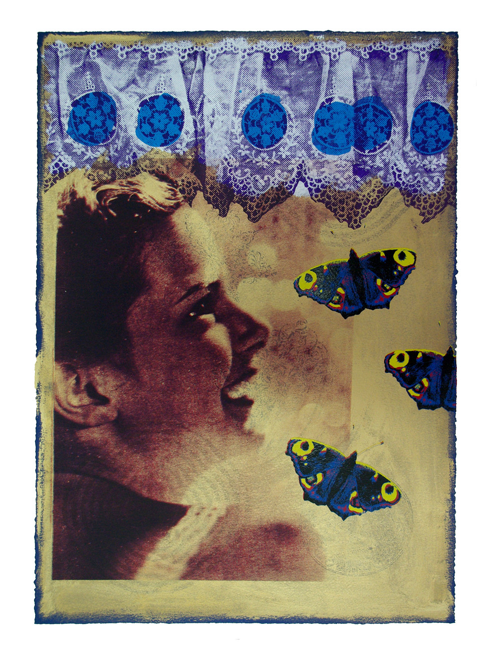Jane Sampson 'Butterfly Baby' Screenprint 56 x 76cm edn 20
