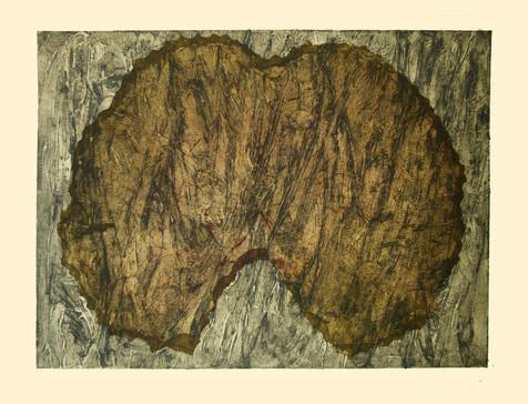 Jane Sampson 'Variation' Collagraph 76 x 56cm test print