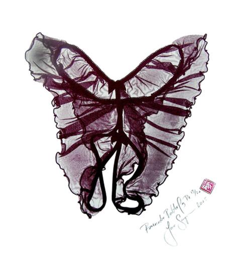 Jane Sampson 'Provocative Butterfly' dark version 45 x 45 edn 20