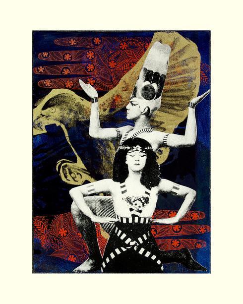 Jane Sampson 'Exotica' Screenprint 38 x 56cm Edn 10