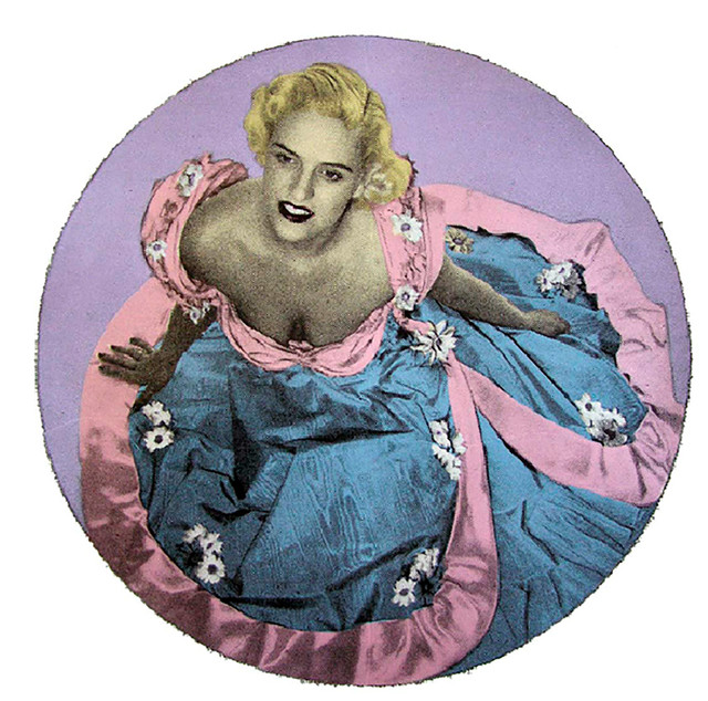 Jane Sampson 'Blue Doreen' Screenprint 60 x 60cm Edn 10
