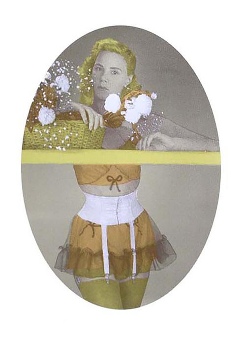 Jane Sampson 'Yellow Stockings' Screenprint 40 x 50 cm Edn 15