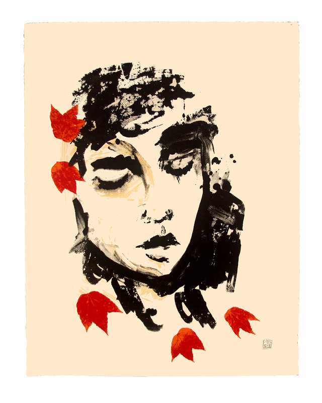 Jane Sampson 'Autumn' Silkscreen Personal project 56 x 72cm Edn 5
