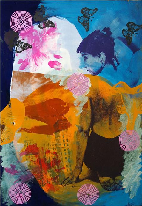 Jane Sampson 'Dream Street' Screenprint 70 x 100cm Edn. 10