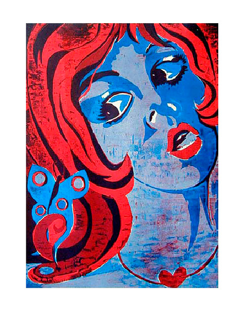 Jane Sampson 'Swoon' Woodcut 50 x 60cm Edn 10'