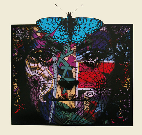 Jane Sampson 'Butterfly Bride' 70 x 80cm Archival Inkjet Silkscreen Gloss enamel Edn 5