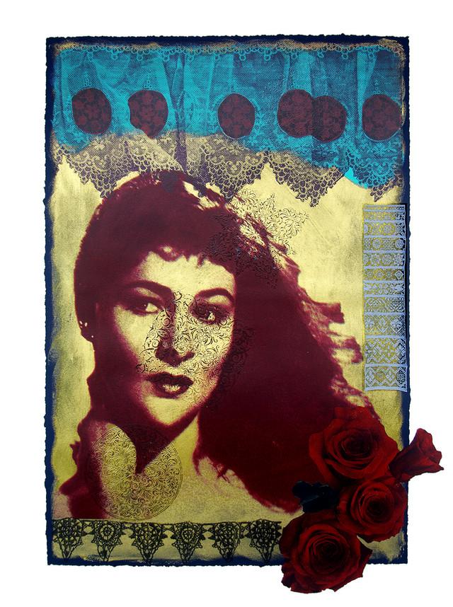 Jane Sampson 'Readhead' Screenprint 56 x 76cm. edn 20