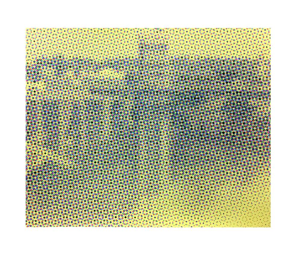Jane Sampson 'Bridge Snapshot (Niagra)' Screenprint study for Collaborative project 'Machine Made Landscape' 76 x 56cm