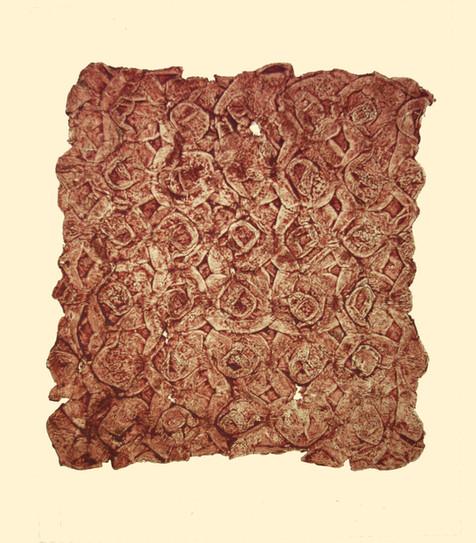 Jane Sampson 'Found Roses' Collagraph 40 x 50cm edn 20