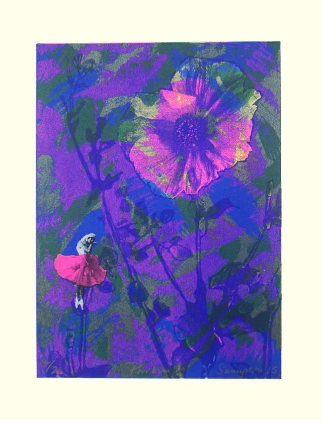 Jane Sampson 'Pavlova' Screenprint 35 x 50cm Edn 20