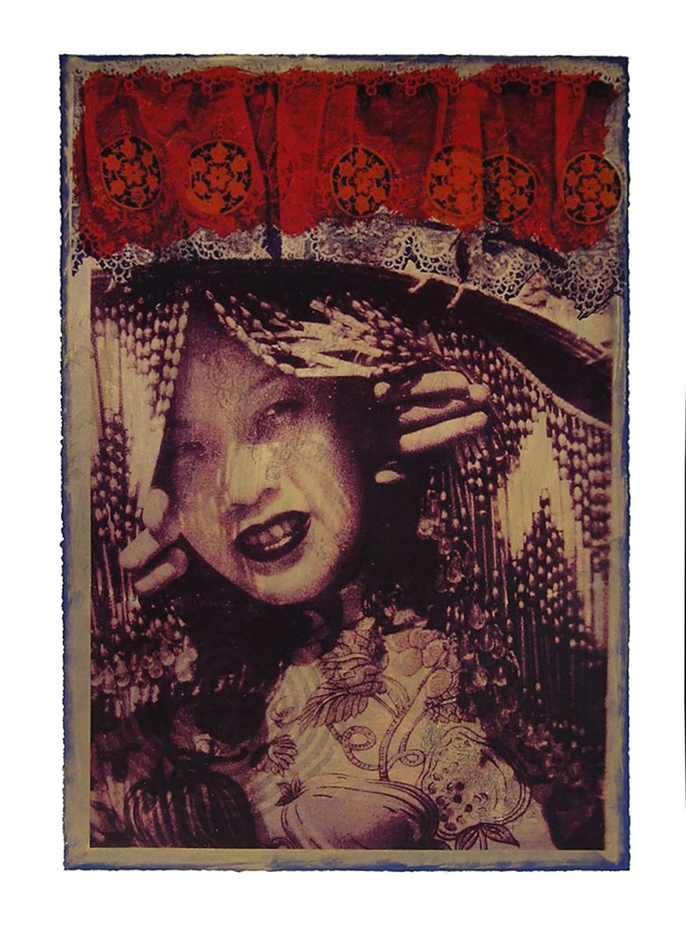 Jane Sampson 'China Girl' Screenprint 56 x 76cm edn 20