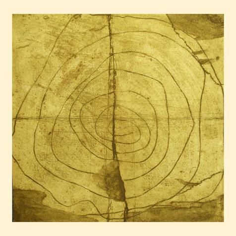 Jane Sampson 'Mound' Collagraph 65 x 76cm edn 10