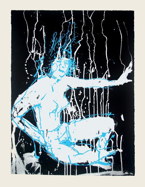 Jane Sampson 'Blue Splash' Screenprint 56 x 76cm Edn 20