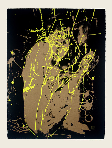 Jane Sampson 'Yellow Splash' Screenprint 76 x 56cm Edn 20