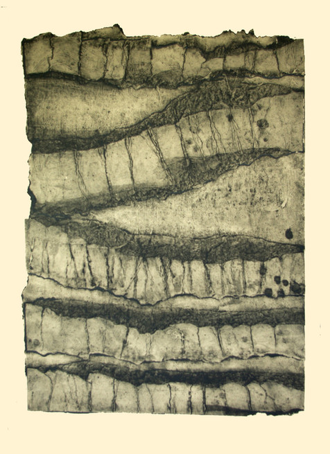 Jane Sampson 'Strata' Collagraph 56 x 76cm edn. 20