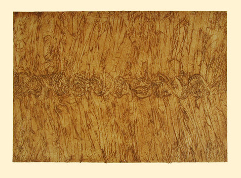 Jane Sampson 'Wheat' Collagraph 76 x 56cm. edn 20
