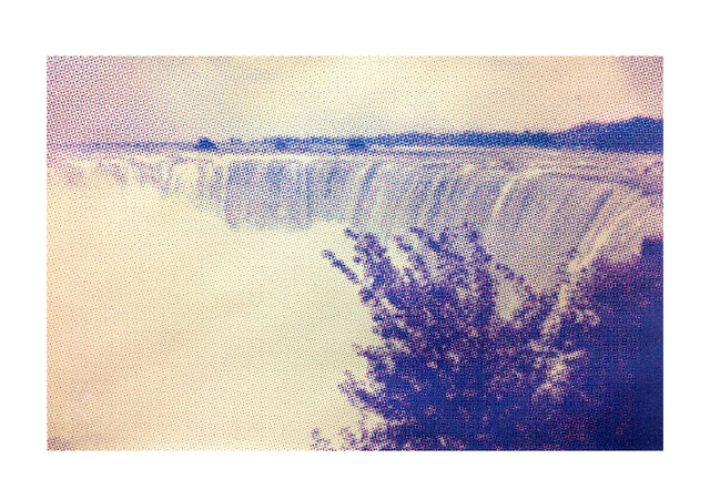 Jane Sampson 'Snapshot Niagra' Screenprint study for Collaborative project 'Machine Made Landscape' 75 x 56cm.