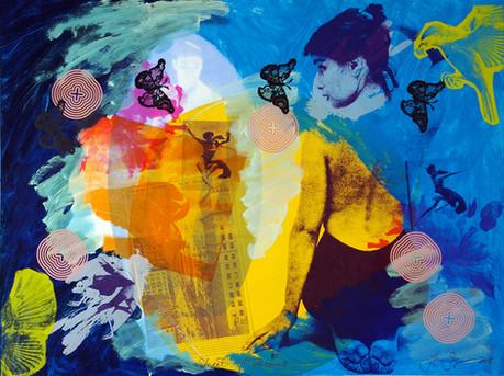 Jane Sampson 'Street of Dreams' Screenprint 120 x 80cm Edn. 20