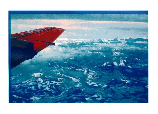 Jane Sampson 'Flight' Silkscreen 40 x 30cm Edn 20