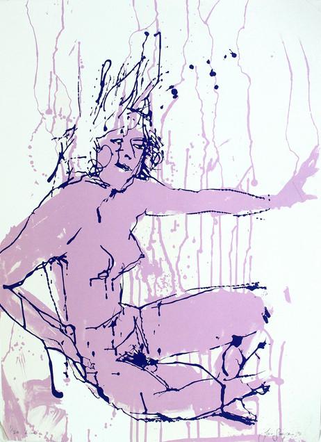 Jane Sampson' 'Lilac' Screenprint 56 x 76cm Edn 20