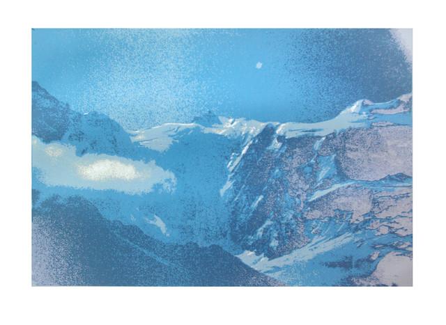 Jane Sampson 'Bernese Oberland' Silkscreen 56 x 76cm Edn 20