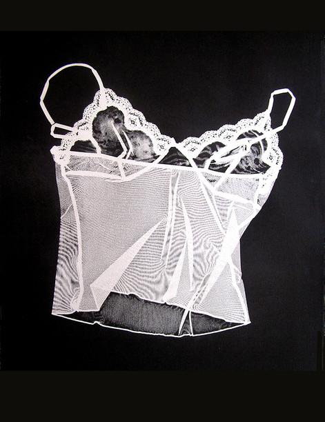 Jane Sampson 'Heartless' silver pigment Screenprint 56 x 76cm edn 10