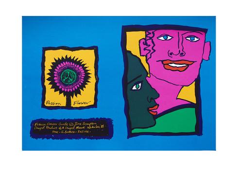 Jane Sampson 'Buddies' Card design Silkscreen 25 x 18cm