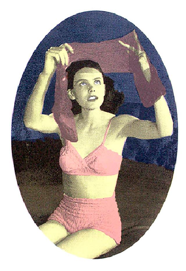 Jane Sampson 'Pink Stockings' Screenprint 40 x 50cm Edn 15.