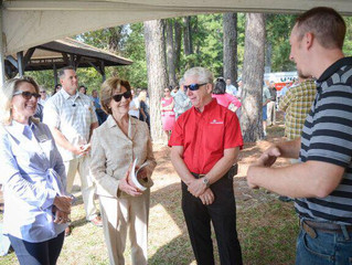 Former First Lady Laura Bush Attends LLFoR Planting
