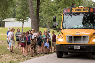 Students Arrive at Planting Site