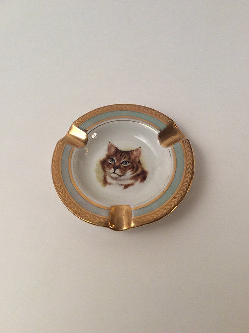 cendrier chat  en  porcelaine de Limoges