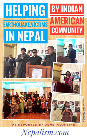 Indian American community fundraised for Nepal's earthquake victims