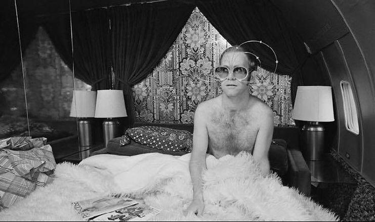 Elton John custom made designer eyeglasses with diamonds designed by master optician