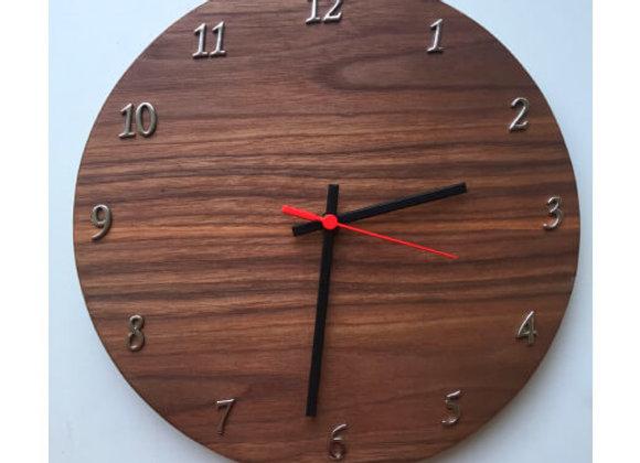 Relógio de Parede - Nogueira